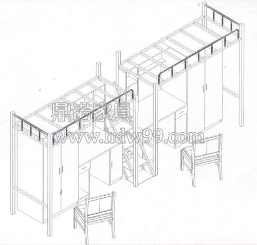 学生公寓床平面图